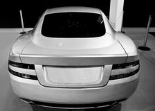 Luxury Sports Coupe - REAR - BW Royalty Free Stock Image