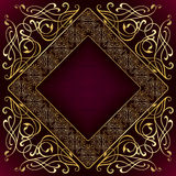 Luxury square gold frame Stock Photography