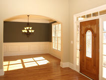 Luxury Stained Glass Door with Arch and light Stock Photos