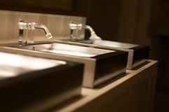 Luxury stainless steel sinks  Royalty Free Stock Photography