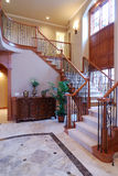 Luxury Staircase. Grand Staircase in a large home Royalty Free Stock Photo