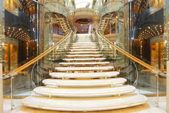 Luxury staircase. Luxury modern staircase , luxurious stairs royalty free stock images