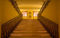 Luxury staircase. Luxury modern staircase in rich Hotel Stock Image