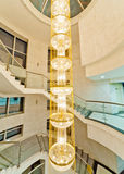 Luxury stairs. With crystal chandelier Stock Image