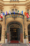 Luxury 5 star Hotel Paris in historical Art Nouveau building, Pr Royalty Free Stock Photo