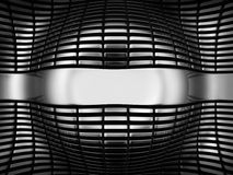 Luxury steel abstract background. 3d illustration Stock Photography