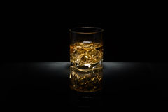 Luxury still life of whisky glass Stock Photos