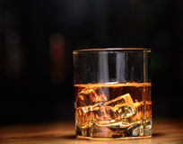 Luxury still life of whisky glass Royalty Free Stock Photos