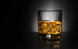 Luxury still life of whisky glass Stock Images