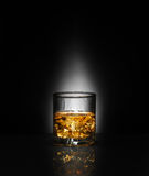 Luxury still life of whisky glass Royalty Free Stock Image