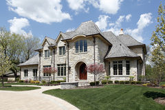 Luxury stone home Royalty Free Stock Photo