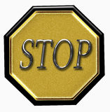 Luxury stop sign Royalty Free Stock Photo