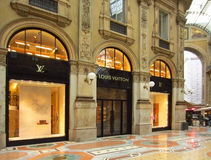 Luxury Store in Milan Royalty Free Stock Photography