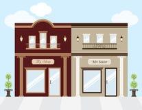 Luxury Stores. Illustration of luxury clothing stores