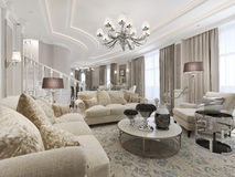 Luxury studio interior. 3d render Royalty Free Stock Photography