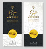 Luxury style gift voucher Royalty Free Stock Image