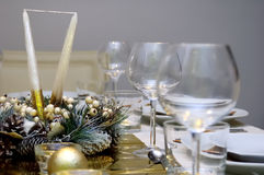 Luxury style table setting Royalty Free Stock Image