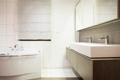 Luxury stylish bathroom Royalty Free Stock Image