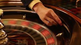 Luxury and stylish interior of european casino. Luxury and stylish interior of european casino stock video footage