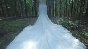 Luxury Stylish Young Bride In The Woods stock video