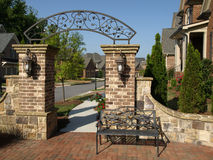 Luxury Subdivision Arch Gateway Stock Photos