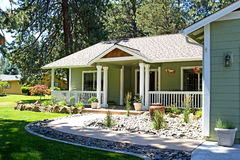 Luxury Suburban Single Family Home Royalty Free Stock Photo