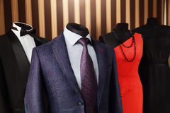 Luxury suit and dress in fashion concept Stock Photo
