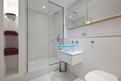 Luxury suite bathroom. Contemporary luxury suite bathroom with designer elements Royalty Free Stock Photography