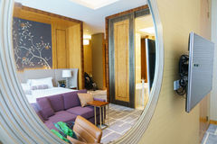 Luxury suite 5 star bedroom Stock Photo