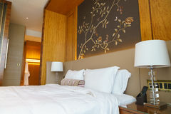 Luxury suite 5 star bedroom Royalty Free Stock Photo