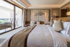 Luxury suite 5 star bedroom Royalty Free Stock Photos