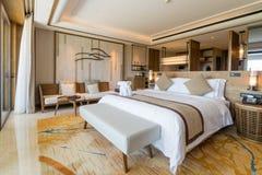Luxury suite 5 star bedroom stock photos