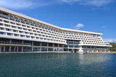 Luxury summer hotel in Greece Stock Photo