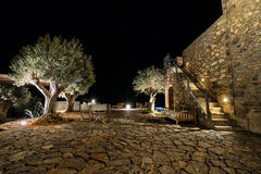 Luxury Summer Resort at Night royalty free stock images