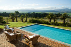 Luxury summer villa with swimming pool Stock Images