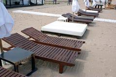 Luxury sun chairs Stock Photo