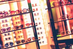Luxury Sunglasses Storefront Stock Images