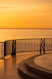 Luxury sunset from luxury villa Stock Photography