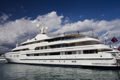 Luxury Super Yatch Royalty Free Stock Image