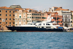 Luxury Superyacht Jo at Venice Royalty Free Stock Photo