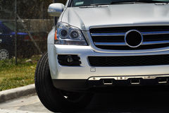 Luxury SUV. Luxurious Silver SUV made in Germany Stock Photo