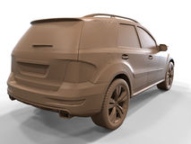 Luxury SUV car side view Royalty Free Stock Photography