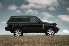 Black Landrover clean Stock Images