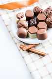 Luxury sweet chocolate pralines Royalty Free Stock Image