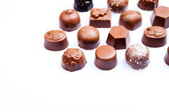 Luxury sweet chocolate pralines Royalty Free Stock Photos