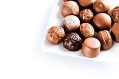 Luxury sweet chocolate pralines Royalty Free Stock Images
