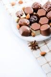 Luxury sweet chocolate pralines Stock Photo