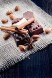 Luxury sweet chocolate pralines Royalty Free Stock Photography
