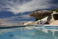 Luxury swimming pool Stock Images