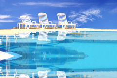 Luxury swimming pool Royalty Free Stock Image
